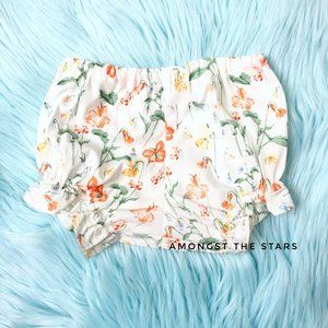 Baby CZ by Carolina Zapf White Floral Bloomers